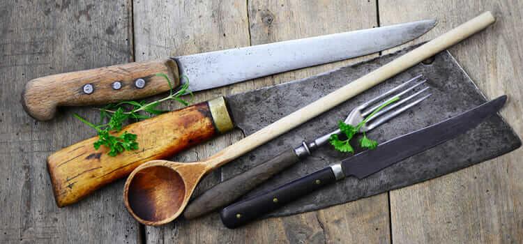 Werkzeug für einen Küchenchef