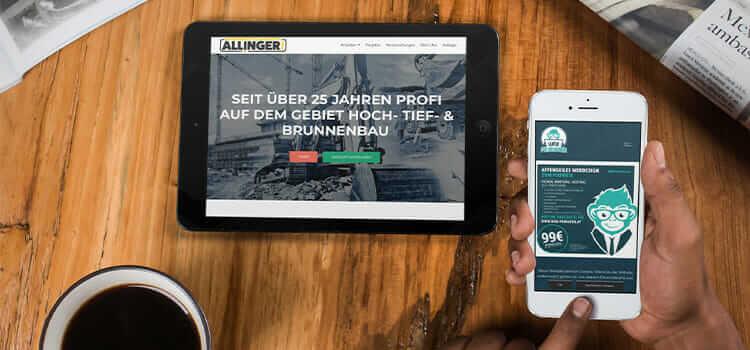 Webseite erstellen Smartphone und Tablet
