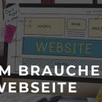 Webseite Baukasten mit Überschrift